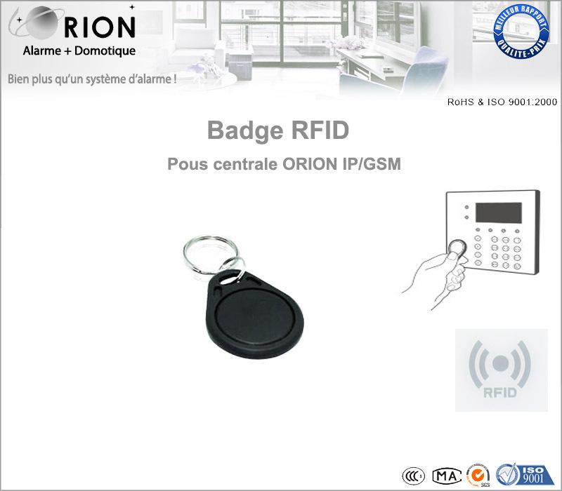 badge rfid pour centrale d 39 alarme sans fil orion ip. Black Bedroom Furniture Sets. Home Design Ideas